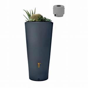 Bac Récupérateur D Eau De Pluie : r cup rateur d 39 eau r servoir vaso 2en1 220 l graphite ~ Premium-room.com Idées de Décoration