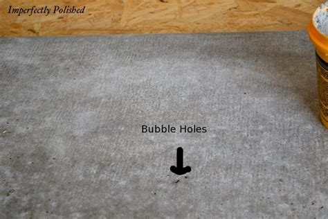 how to fill holes in concrete countertops remodelaholic concrete countertops tutorial kitchen