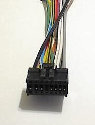 pioneer car stereo wire audio wiring harness 16 pin ebay