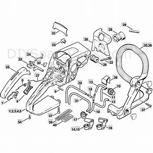 Stihl Ms 250 Chainsaw  Ms250 C  Parts Diagram  Handle Housing