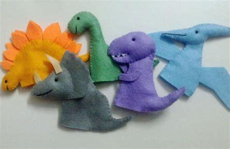 felt dinosaur puppets search preschool toys