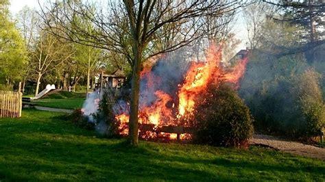 Botanischer Garten Eschwege by Absichtlich Gelegt Feuerwehr Muss Bambushecke Im