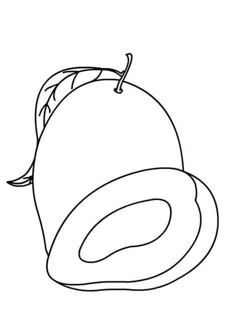 Coloring Mango by Mango Coloring Pages And Print Mango Coloring Pages