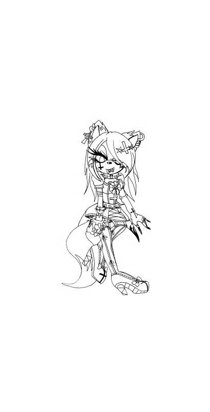 Gothic Coloring Pages Woman Printable Template