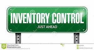 Inventory Control Street Sign Concept Stock Illustration ...