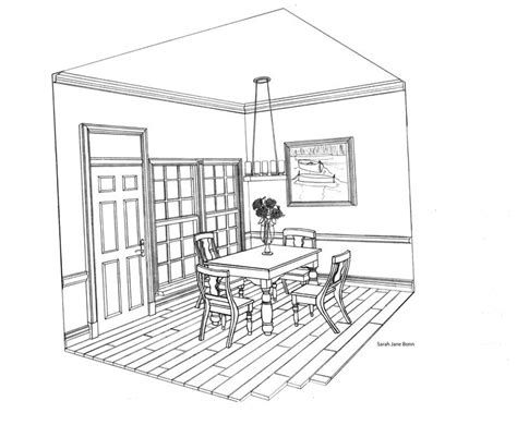 point perspective drawing room google search
