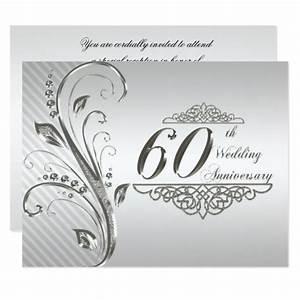 60th wedding anniversary invitation card zazzlecomau With 60 year wedding anniversary
