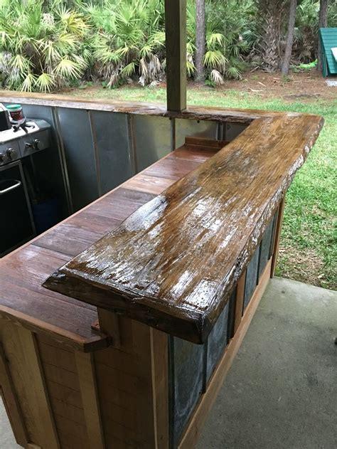 edge bar top diy outdoor bar outdoor bar wood bar top