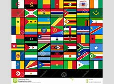 Set Of Flags Of African Countries Vector Flags Of Stock