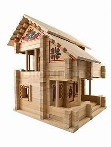 Holzspielzeug Baupläne Kostenlos : holzspielzeug haus stockfoto colourbox ~ Watch28wear.com Haus und Dekorationen