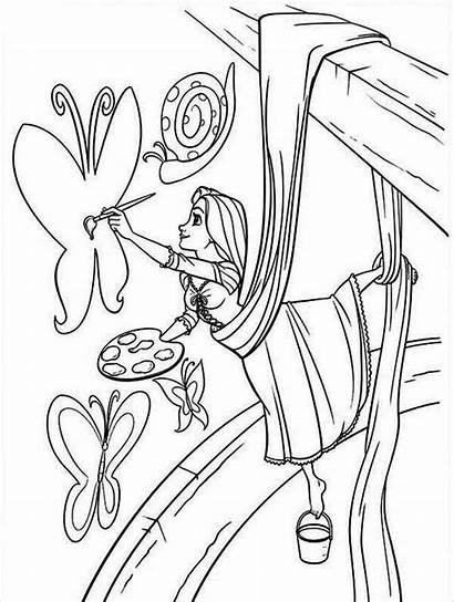 Rapunzel Painting Coloring