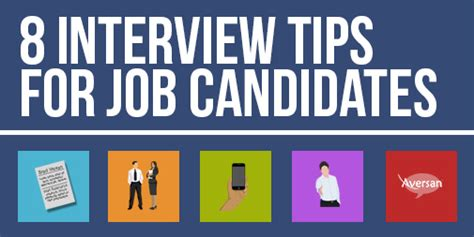 8 Interview Tips For Job Candidates Aversan