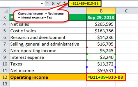 operating income formula   calculate operating income