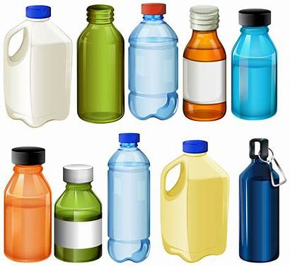 Bottles Vector Different Bottle Milk Graphics Illustration