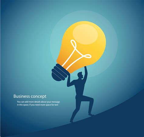 businessman carrying light bulb. concept of creative ...