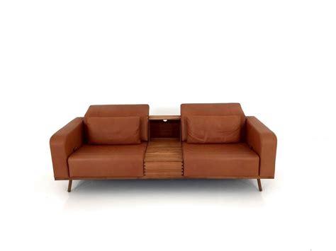 Brühl Sofa by Br 220 Hl Space Sofa Mit Tischcontainer In Pearl Leder