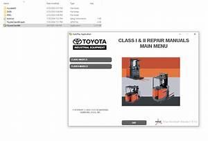 Toyota Forklift Industrial Equipment Class I  U0026 Ii  U0026 Iii
