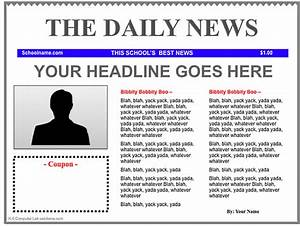 Free Newspaper Template | cyberuse