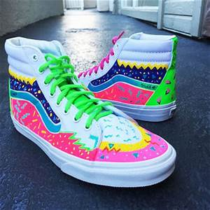 Custom Mens Vans SK8 hi sneakers Skater from Custom Sneakz
