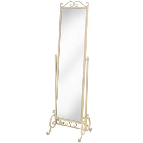 shabby chic free standing mirror shabby chic country style cream wrought iron free standing full length mirror ebay bedroom