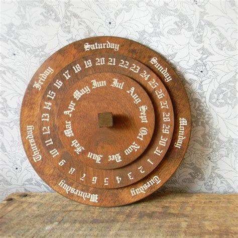 perpetual calendar vintage german wooden dial