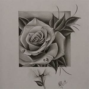 All done with this super fun freehand rose pencil drawing ...