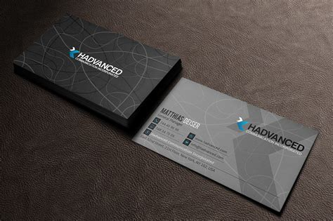 grey business card business card templates  creative