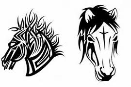 Simple Tribal Horse Ta...