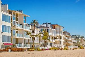 Venice, Beach, Homes, In, Los, Angeles, California, Usa, Stock