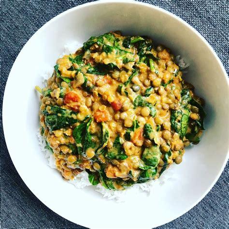 spinach  green lentil dahl lentil recipes green