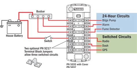 Independent Sourced Circuit Blade Fuse Block Blue Sea