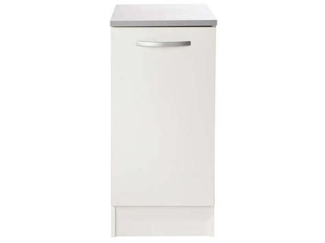 meuble cuisine 25 cm largeur meuble bas 40 cm 1 porte spoon coloris blanc vente de