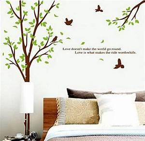 Baum Für Wohnzimmer : sunnicy wandtattoo baum v gel natur landschaft wandsticker wandbilder f r schlafzimmer ~ Markanthonyermac.com Haus und Dekorationen