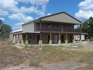 steel frame homes w limestone exterior more 10 hq With 2 story metal building home plans
