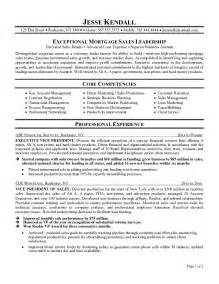 resumes for top executives exle mortgage executive resume free sle