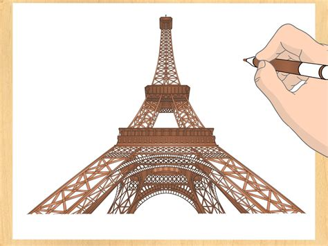 draw  eiffel tower  steps  pictures