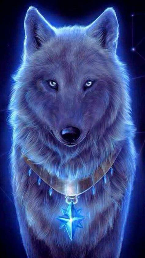 Blue And Purple Wolf Wallpaper by Blue Wolf Wallpaper Wolfs And Dragons In 2019 Wolf