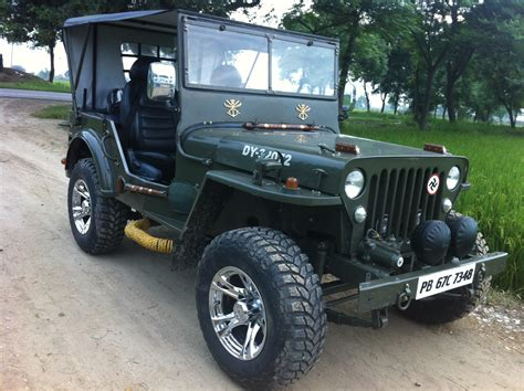indian army jeep modified willy jeep army canopy alloys modified chaltapurja
