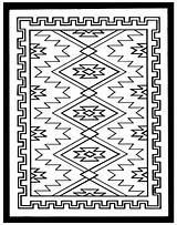 Coloring Native Southwestern Patterns Printable Template Rug Navajo Southwest Indian Colouring Quilt Weaving Rugs Malvorlagen Zeichnen Tribal Symbols Ausmalen Erwachsene sketch template