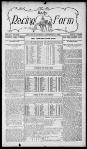 daily racing form n wednesday september 22 1909 daily racing form free download