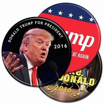 Campaign Trump Buttons Donald President Election Presidential