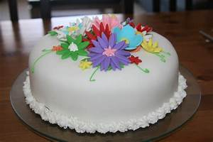 Fondant Flower Cakes - Fondant Cake Images