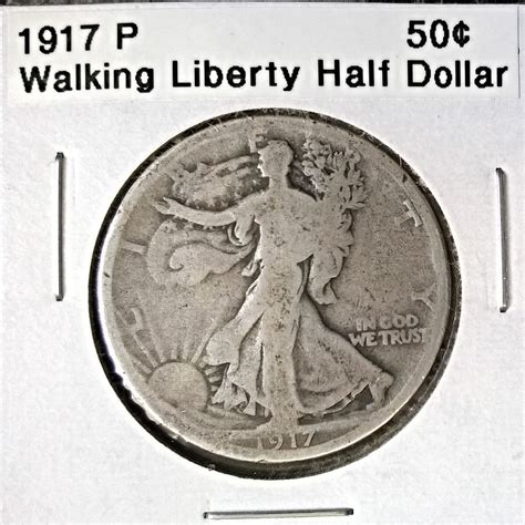 walking liberty half dollar 1917 p walking liberty half dollar for sale buy now online item 158384