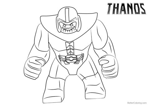 how to draw thanos coloring pages free printable