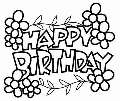 Coloring Birthday Pages Happy Printable