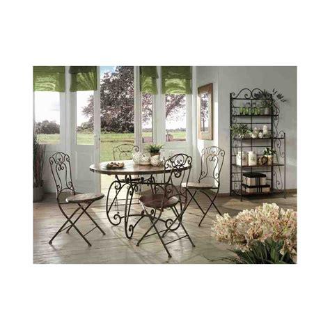 chaise en fer forge et bois chaise haute bar bois et fer forg 233 jeanne pier import