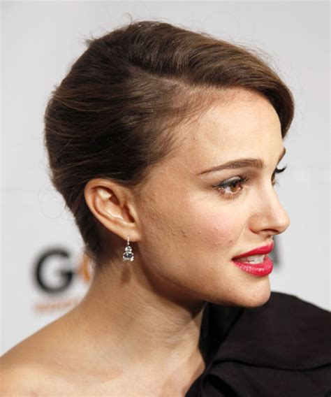 Natalie Portman Curly Formal Updo Hairstyle