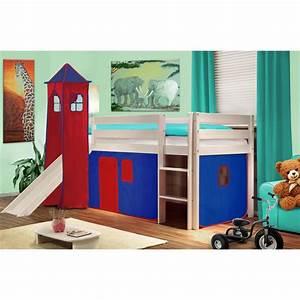 Lit Garçon Original : lit enfant garon toboggan mezzanine arthur meuble de style ~ Preciouscoupons.com Idées de Décoration