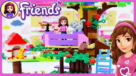 lego friends olivias treehouse build review silly play kids toys youtube