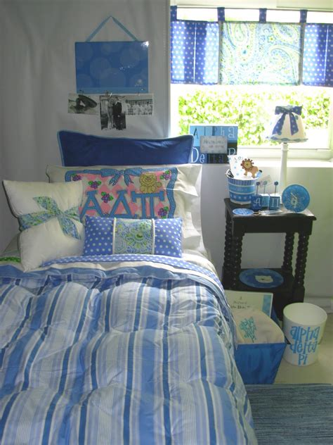 decor  ur door alpha delta pi sorority dorm bedding